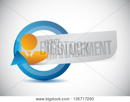 Facility Management Businessman Sign Illustration