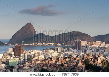 Rio de Janeiro Flamengo District and Sugarloaf Mountain