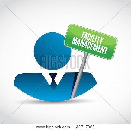 Facility Management Businessman Sign