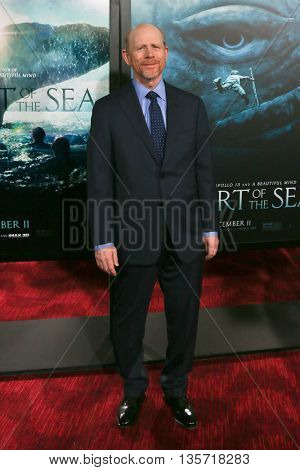 NEW YORK-DEC 7: Director Ron Howard attends the New York premiere of