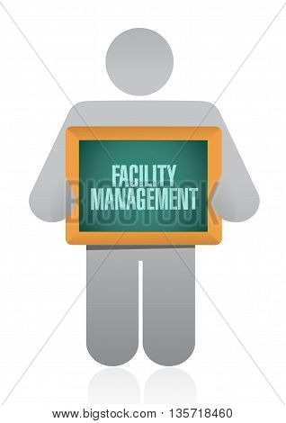Facility Management Holding Sign