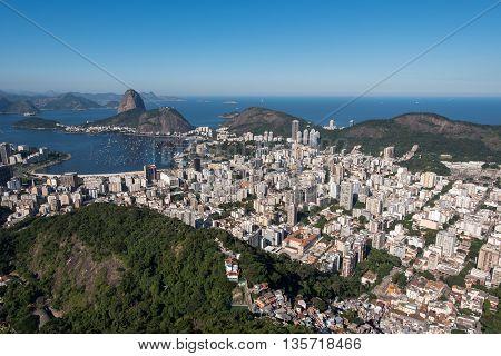 Botafogo Neighborhood View With the Sugarloaf Mountain View, Rio de Janeiro