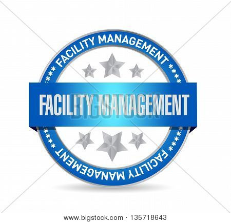 Facility Management Seal Sign Illustration
