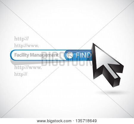 Facility Management Search Bar Sign Illustration