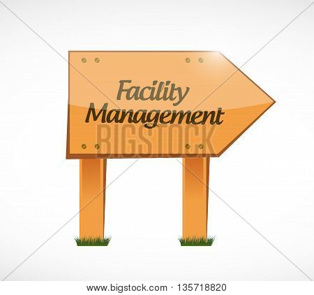 Facility Management Wood Sign