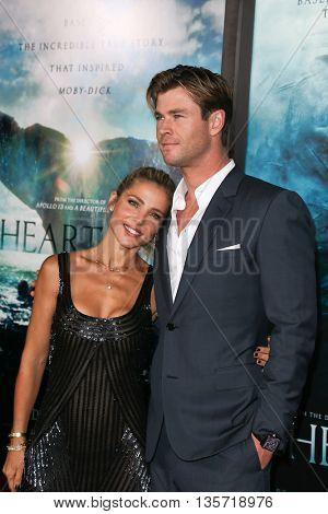 NEW YORK-DEC 7: Chris Hemsworth (R) and Elsa Pataky attend the New York premiere of