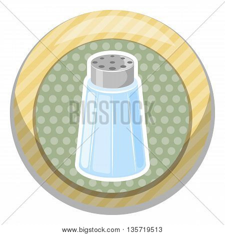 Salt Shaker Cartoon Icon