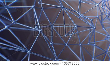 Molecule And Communication Background.blue.