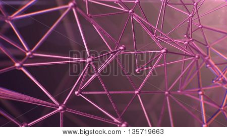3D rendering of Abstract background medical substance and molecules.