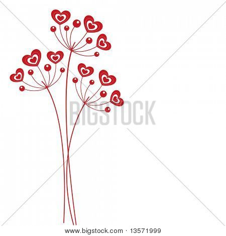 hearts flower vector