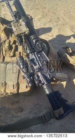 M4 with PEQ16,ACOG sight and M203 grenade launcher
