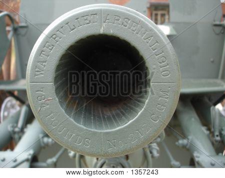 Barrel Of A War Cannon