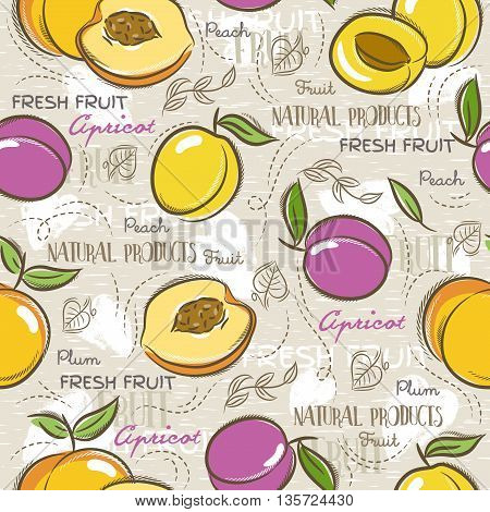 Background with apricot plum and peach. Ideal for printing onto fabric and paper or scrap booking.