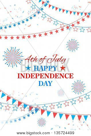 illustration of background for Fourth of July, Happy Independence Day of America