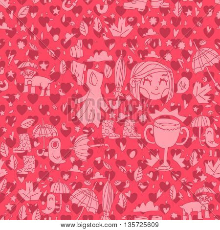 Vector pattern for web page backgrounds, postcards, greeting cards, invitations, pattern fills, surface textures. Great for children bedroom.