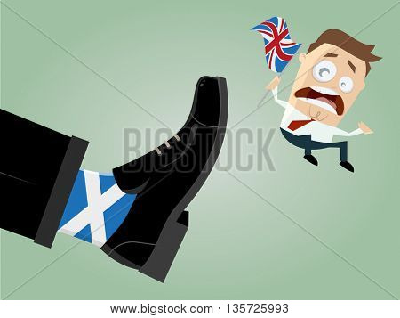 scotland exit great britain caricature