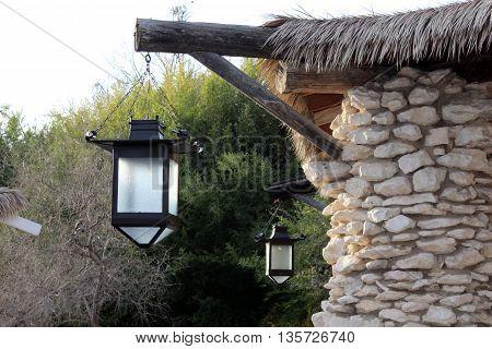 Lanterns at the Japanese Tea Garden in San Antonio.