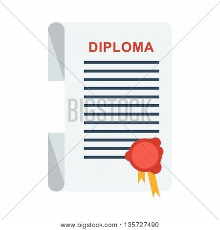 University Diploma Isolated