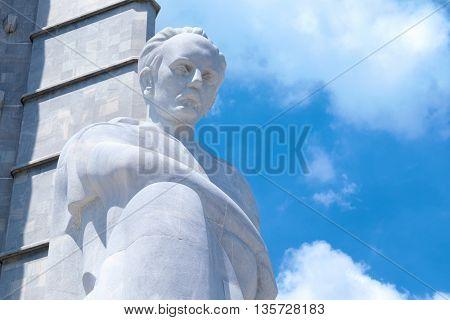 HAVANA,CUBA - JUNE 21,2015: The Jose Marti monument  at the Revolution Square in Havana