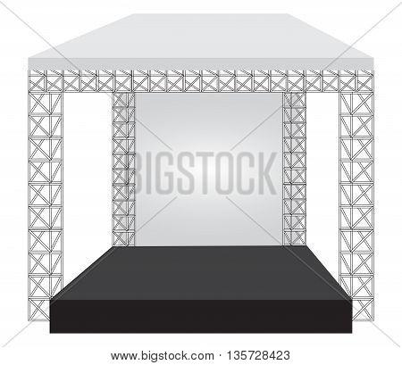 Podium concert stage. Performance show entertainment eps10