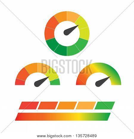 Download speedometers vector set. Control speed download web download speedometer download internet eps10