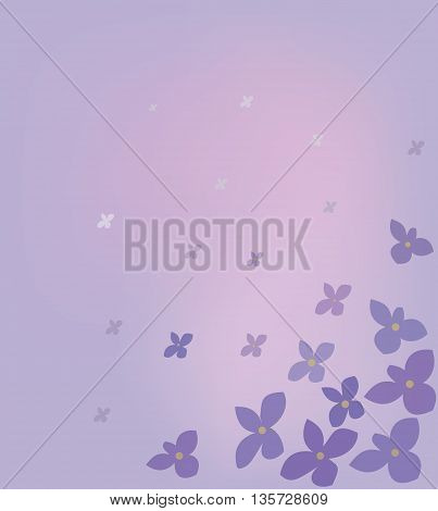 Purple vector background with flowers of lilac