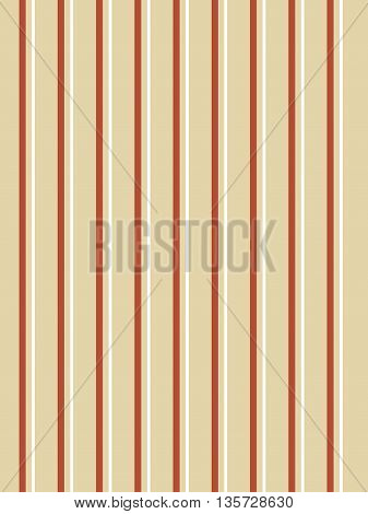 Striped pattern. Red, white and golden stripes