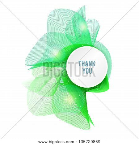 Colorful abstract texture. Vector design background. Green abstract shape