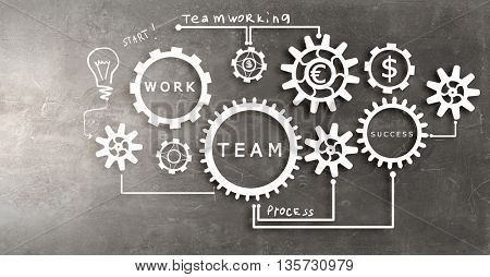 Business teamwork concept
