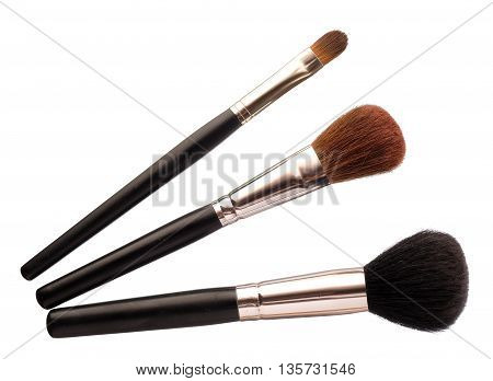 Woman's Make Up Brush Isolated On White Background
