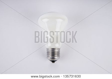 Close Up On Incandescent Light Bulb Isolated