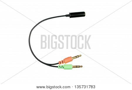Audio Cable Splitter Connector For Microphone And Headphones