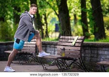 Man Exercising At The Park