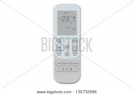 Air conditioner Remote Control 3D rendering on white background
