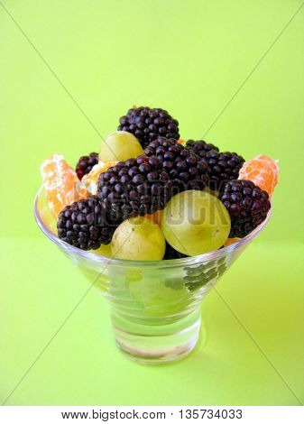 fruit in the glass