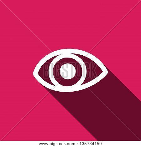 Eye icon. Flat design style. Eye sign. Eye symbol. Vector illustration EPS 10