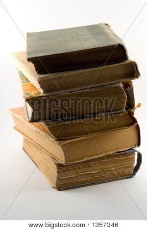 Pile Of The Old Torn Books