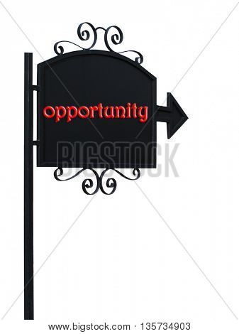 opportunity on road sign