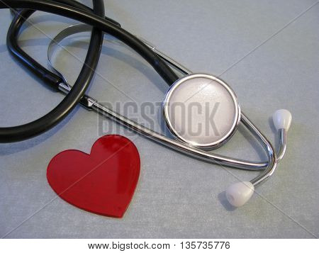 stethoscope and heart shape