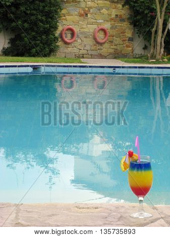 cocktail and pool