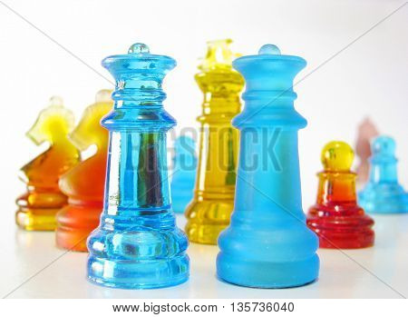 chess made of glass
