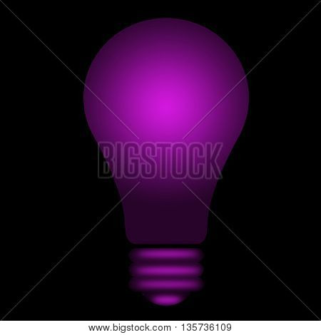 violet shining lightbulb