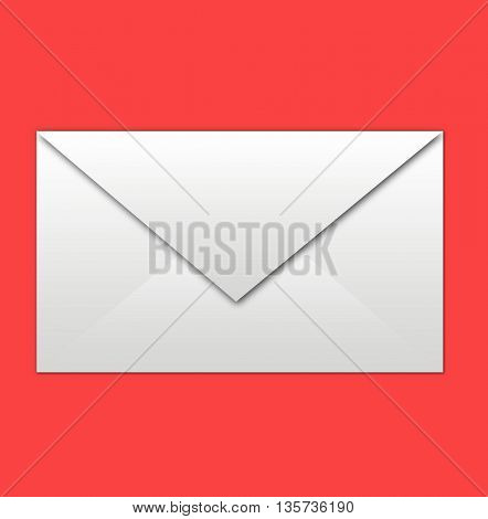 white envelope on red