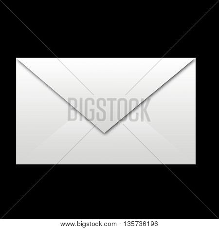 white envelope on black