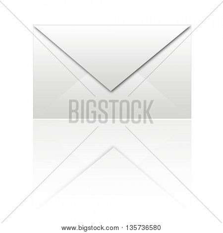 white envelope with reflexion