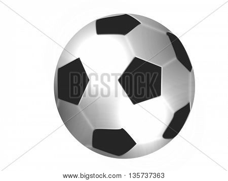 close up of football isolated on white background