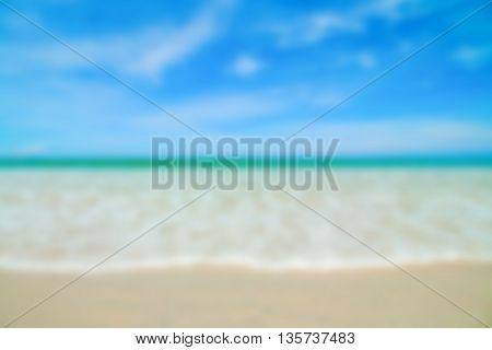 Tropical sand beach background with blue sky.
