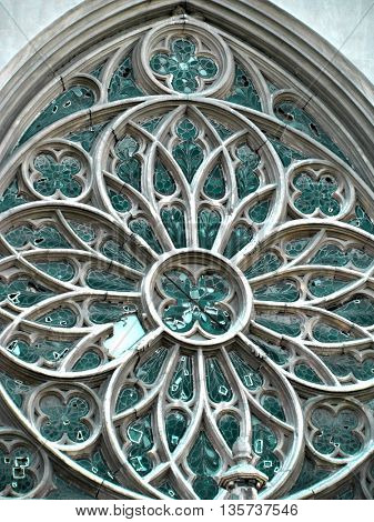 Beautiful window with ornaments