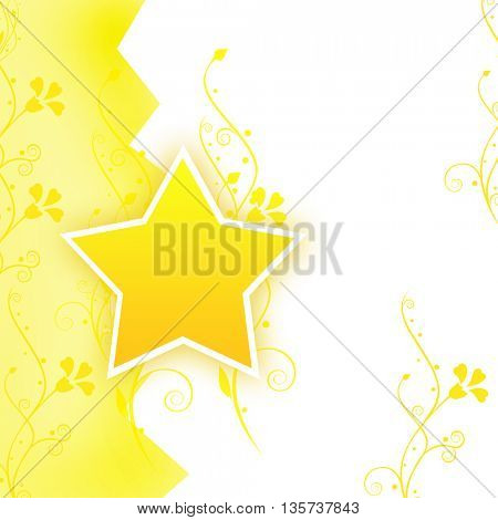 Yellow background with a star