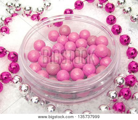 Blush with decorations